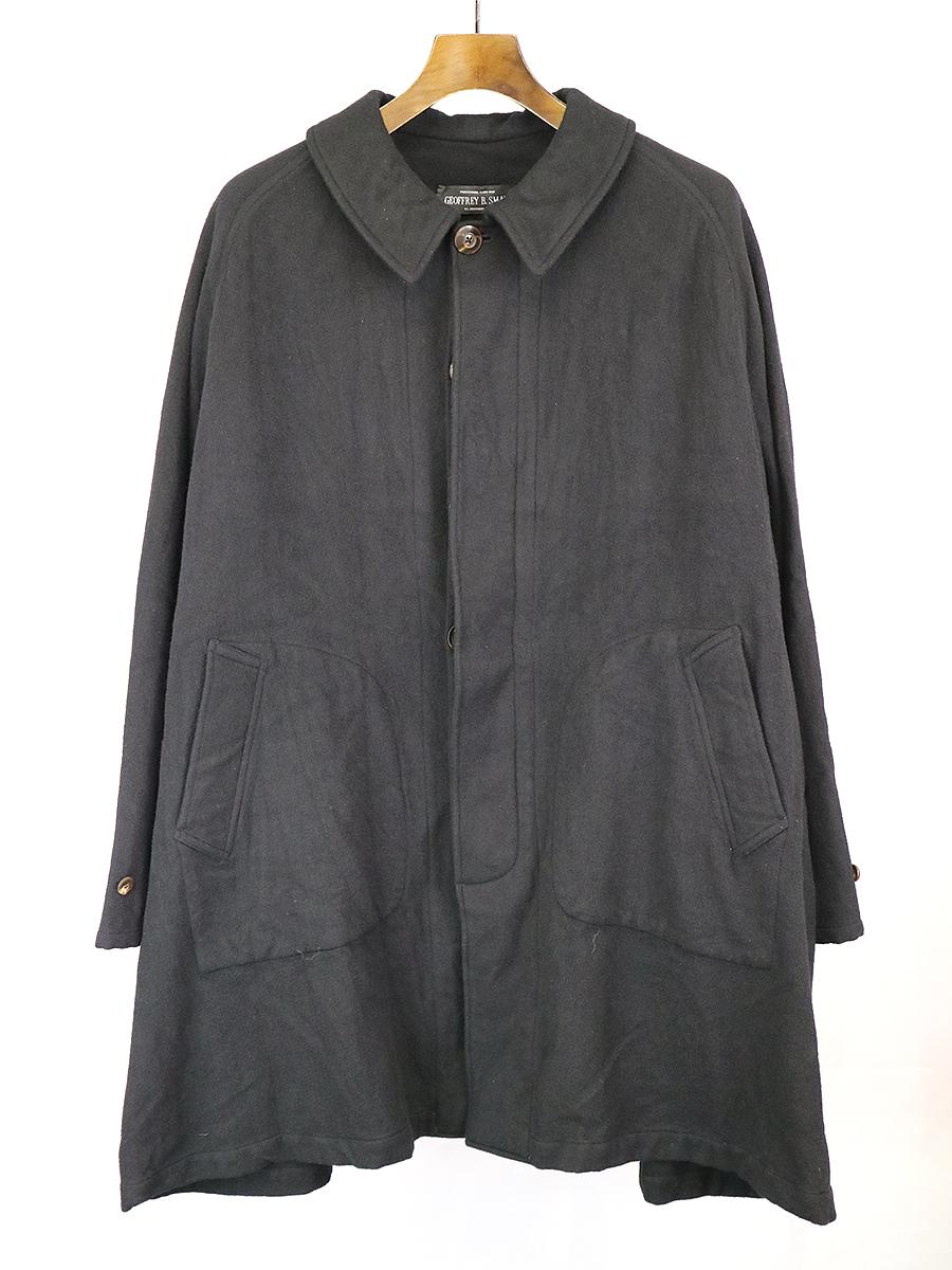 【中古】GEOFFREY B.SMALL ジェフリービースモール ステンカラーオーバーコート ブラック 表記なし メンズ