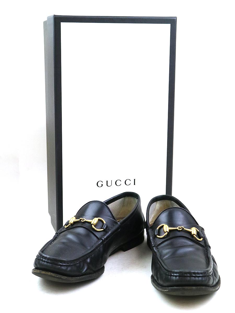【中古】GUCCI グッチ 1953 ホースビットローファー レザーシューズ ブラック 7(26cm程度) メンズ