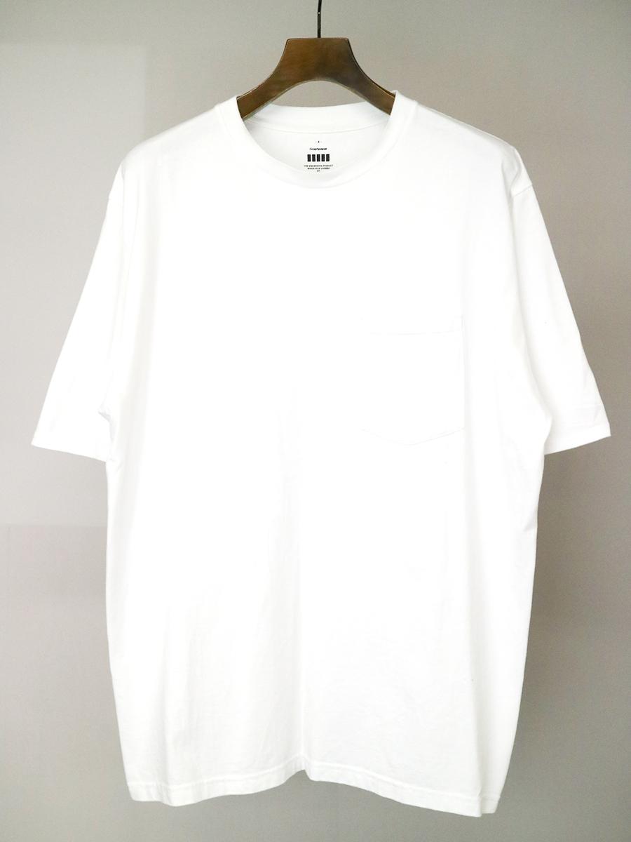 【中古】Graphpaper グラフペーパー オーバーサイズクルーネックポケットTシャツ ホワイト 4 メンズ