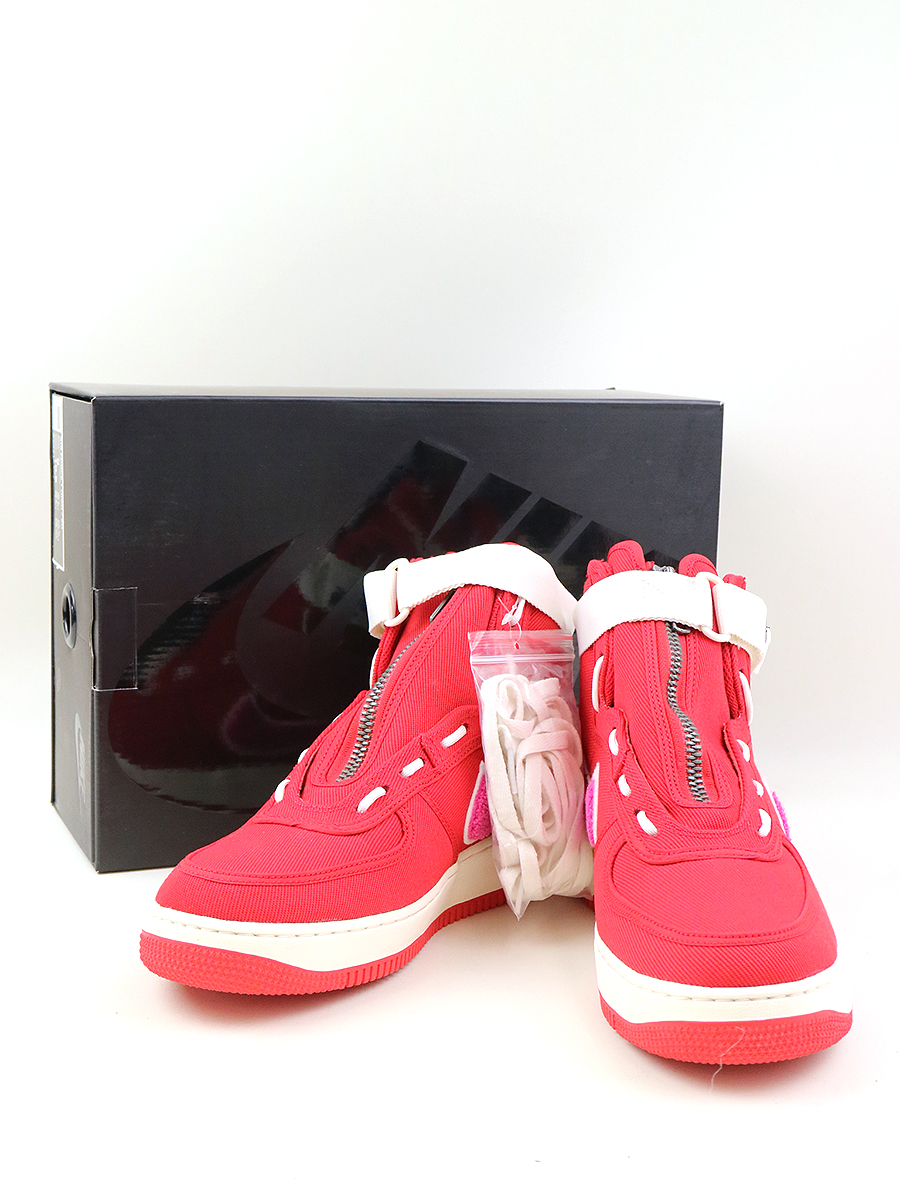 【中古】NIKE ナイキ Emotionall Unavailable AIR FORCE1 HIGH E.U スニーカー AV5840-600 レッド 27cm メンズ
