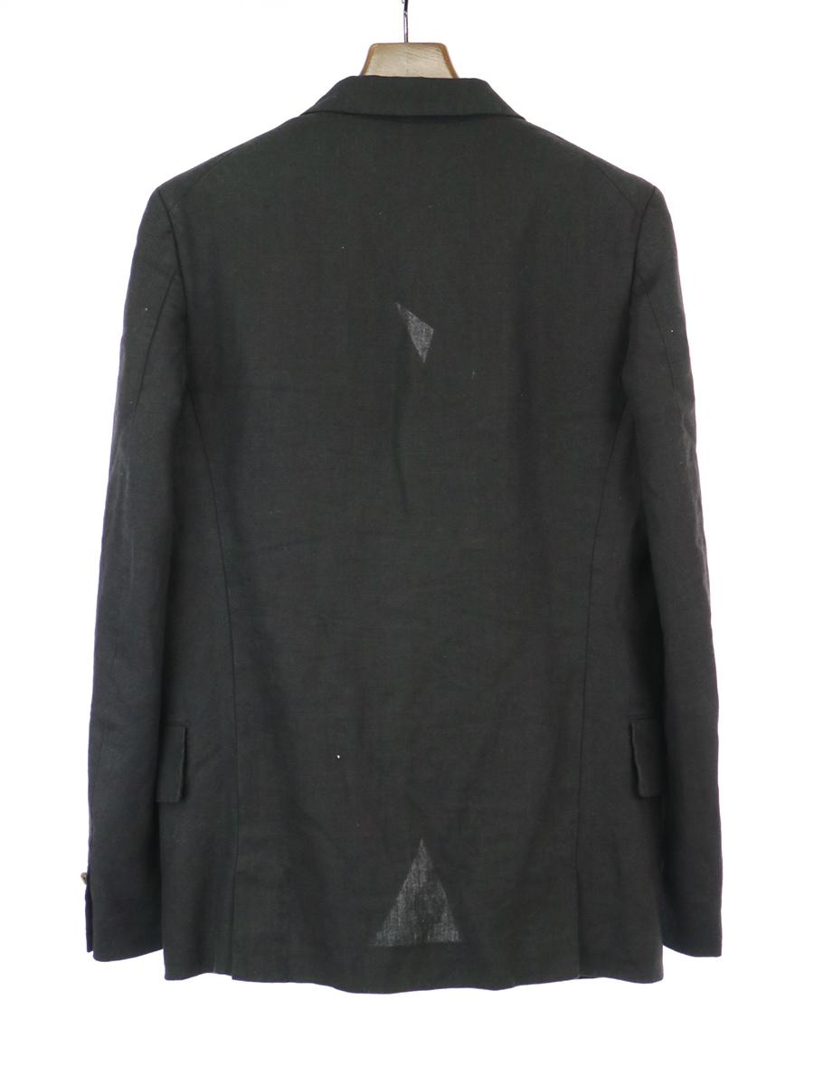 COMME des GARCONS HOMME PLUS コムデギャルソン オムプリュス 15SS 製品染めリネンテーラードジャケット ブラック S メンズZiXuOTPk