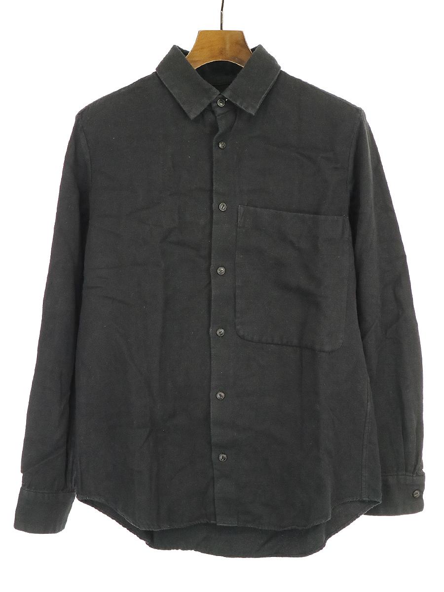 【中古】ARTS&SCIENCE アーツ&サイエンス ビッグポケット長袖シャツ ブラック 2 メンズ