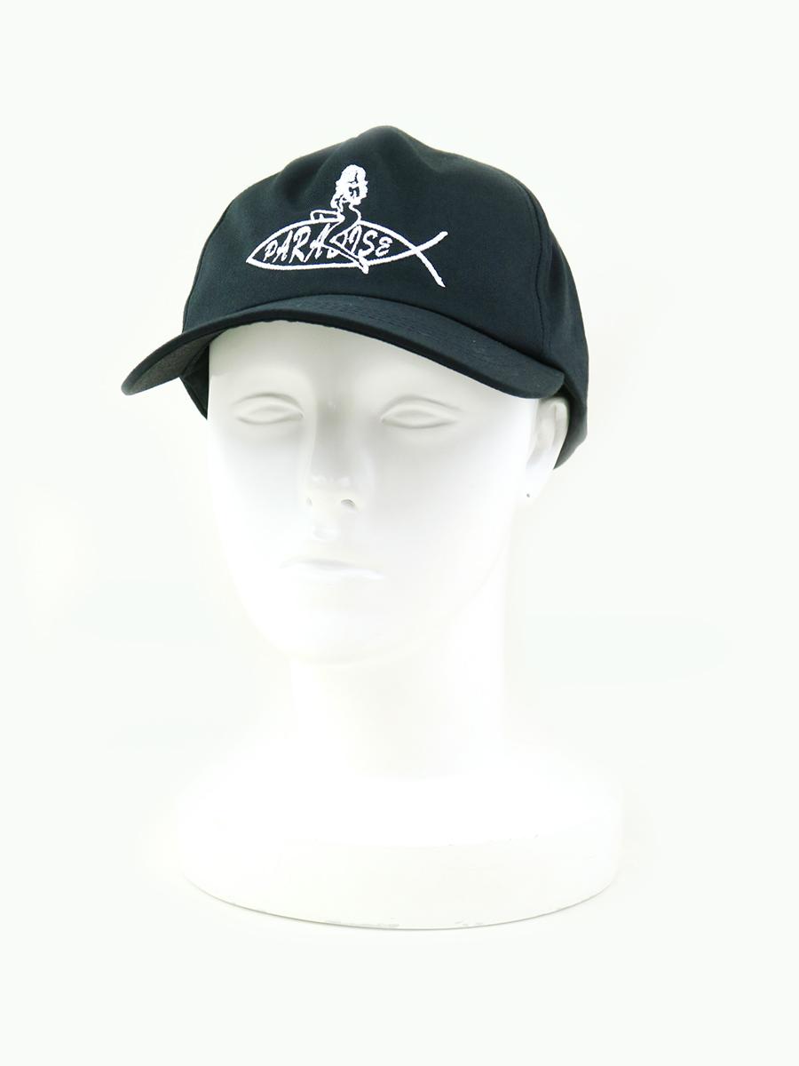 【中古】PARADISE NYC パラダイス ニューヨーク JESUS FISH SNAPBACK ロゴデザインキャップ 帽子 ブラック メンズ