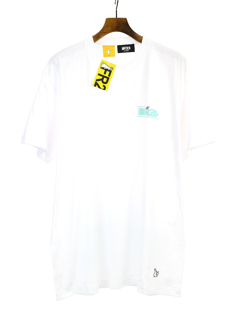 【中古】FR2 × MINTCREW エフアールツー × ミントクルー プリントTシャツ ホワイト XL メンズ