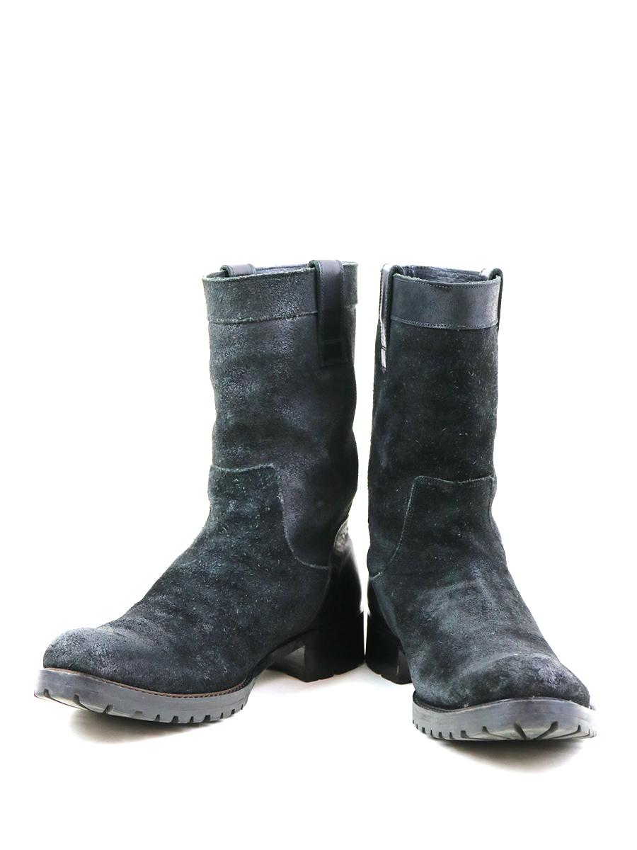 【中古】SHELLAC シェラック レザーペコスブーツ ブラック 42(27cm程度) メンズ