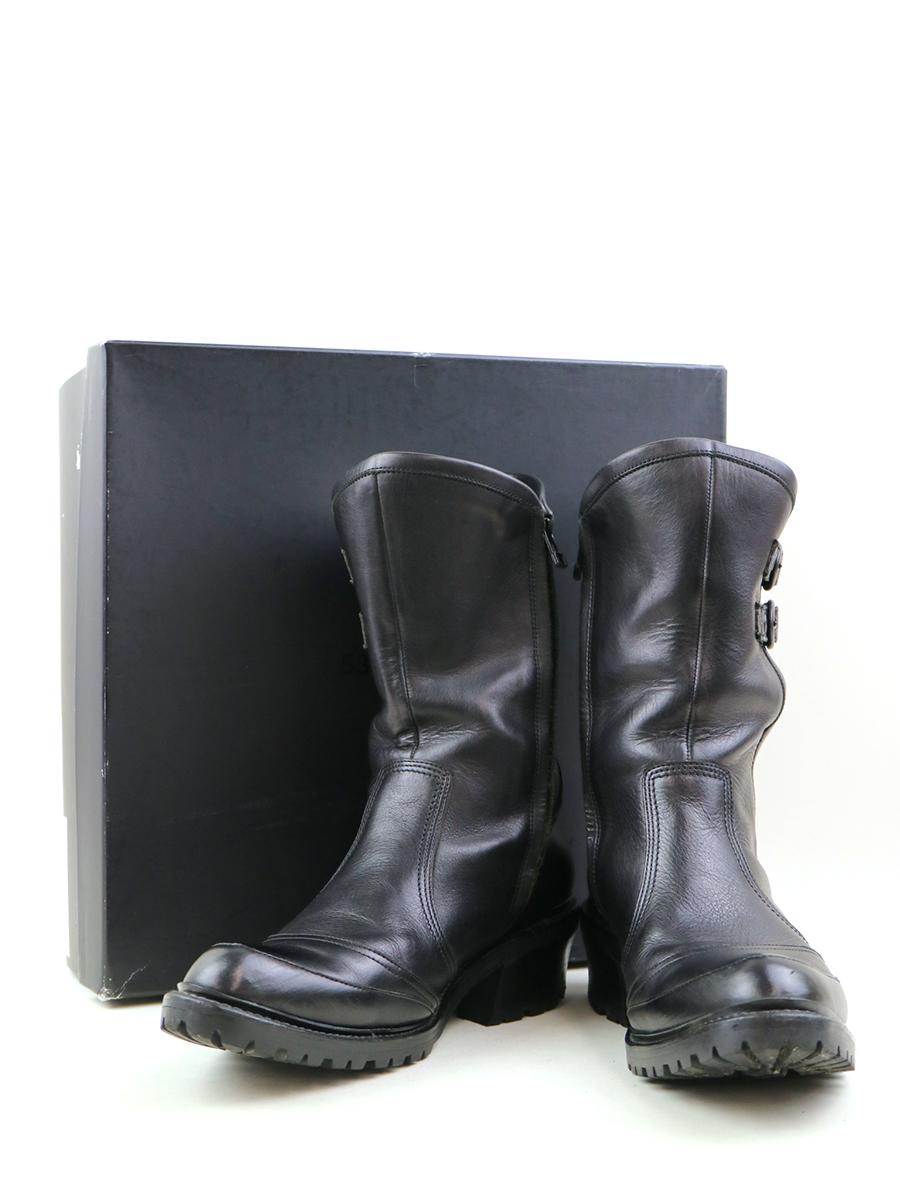 【中古】5351POUR LES HOMMES ゴーサンゴーイチプールオム サイドベルトエンジニアブーツ ブラック 40(25cm程度) メンズ