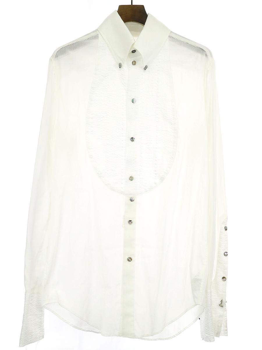 【中古】IF SIX WAS NINE イフシックスワズナイン TXS4-PGS/M ペガサスタキシードシャツ ホワイト 2 メンズ