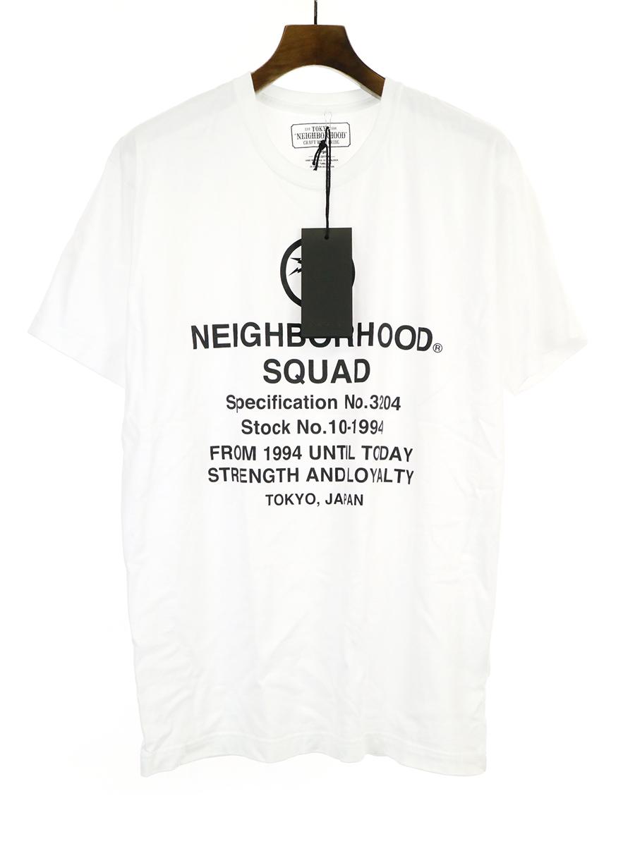 【中古】NEIGHBORHOOD ネイバーフッド 19SS SQUAD TEE プリントTシャツ ホワイト L メンズ