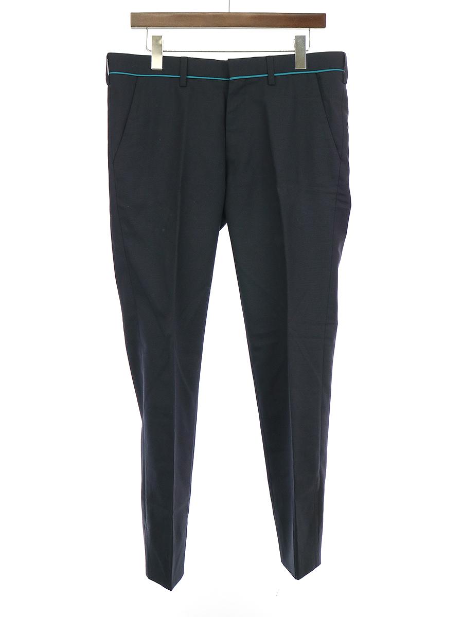 【中古】kolor カラー 15SS モヘヤ混ウールスラックスパンツ ネイビー 3 メンズ