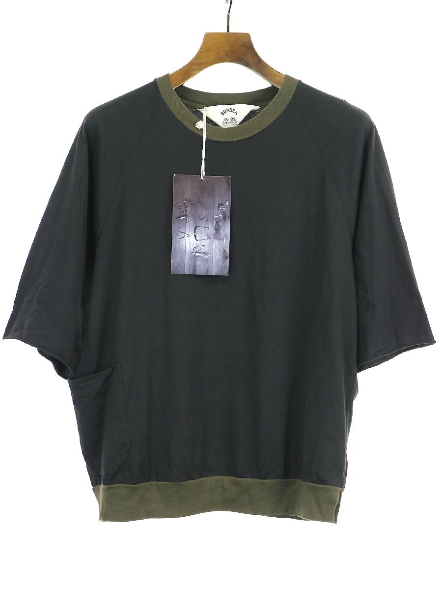 【中古】SUNSEA サンシー 18AW TREK's T/2トーンカラーラグランスリーブトレックTシャツ ブラック 2 メンズ