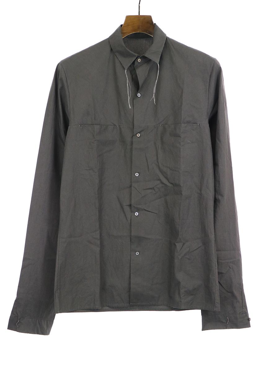 【中古】m.a+ エムエークロス 13SS コットンシャツ チャコール 44 メンズ