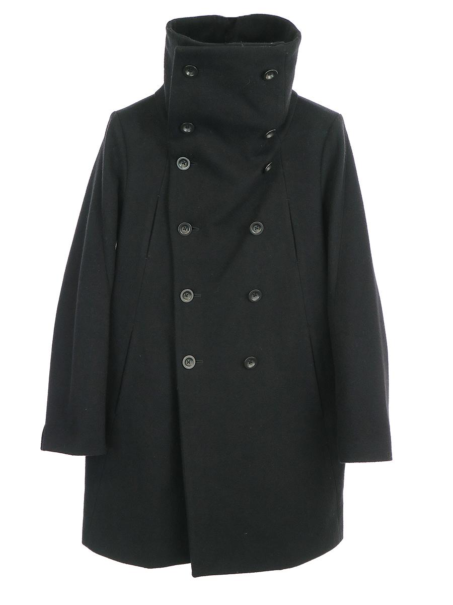 【中古】The viridi-anne ザ ヴィリディアン 13AW メルトンウールハイネックコート ブラック 1 メンズ