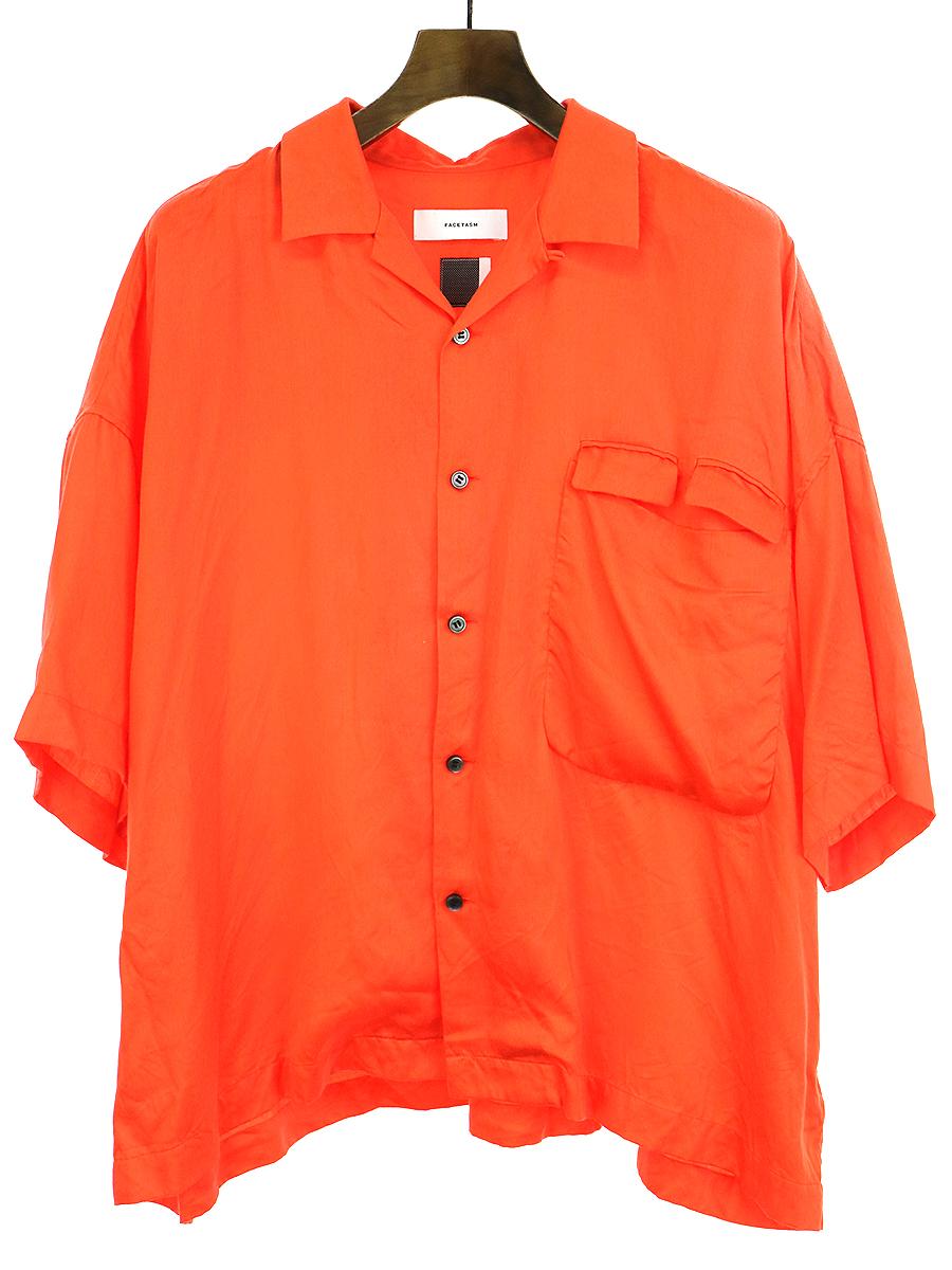 【中古】FACETASM ファセッタズム 17SS STREET TOUGH SHIRT オープンカラービッグシルエットシャツ オレンジ 5 メンズ
