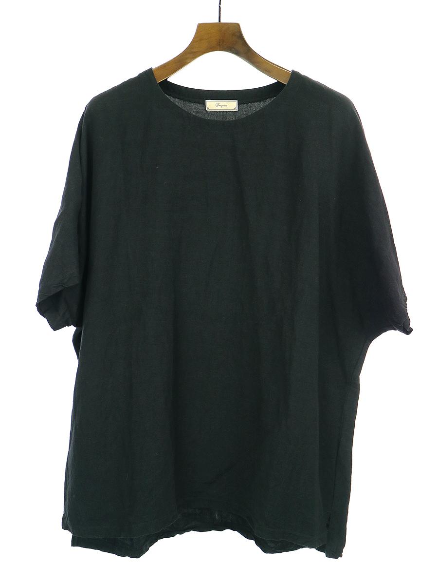 【中古】iroquois イロコイ 19SS LI/VIS キャンパスパウダースノービッグプルオーバーTシャツ ブラック 1 メンズ
