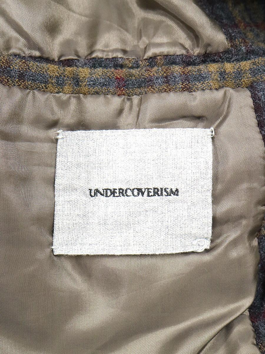 UNDERCOVERISM アンダーカバーイズム 12AW チェックパターンウール縮絨チェスターコート ブラウン 3 メンズTJ3uKc5lF1