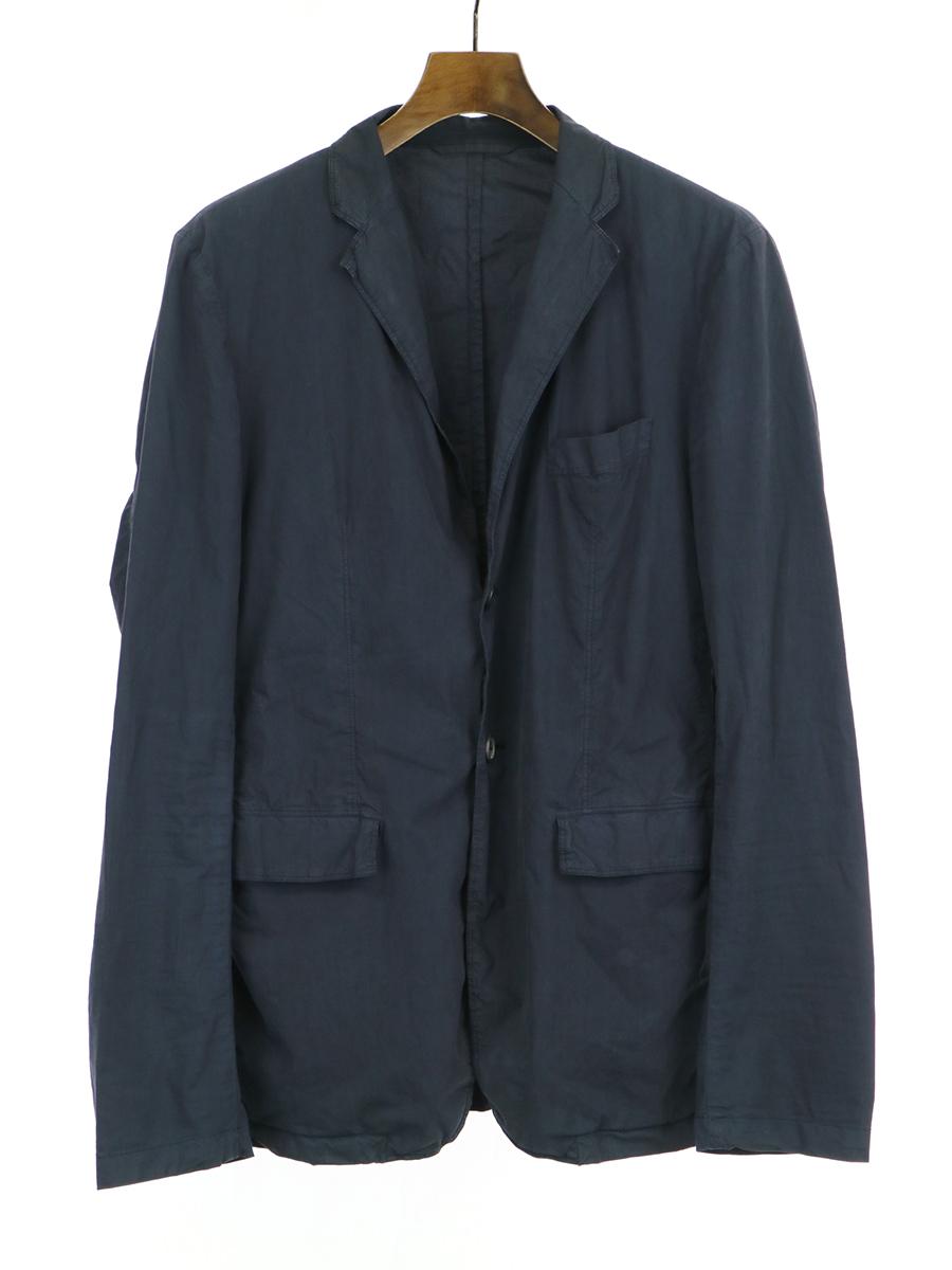 【中古】JIL SANDER ジルサンダー コットンブロードテーラードジャケット ネイビー 46 メンズ