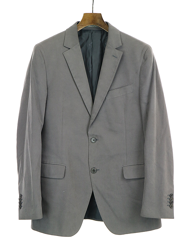 【中古】Salvatore Ferragamo サルヴァトーレ フェラガモ コーデュロイ2Bジャケット グレー 50 メンズ