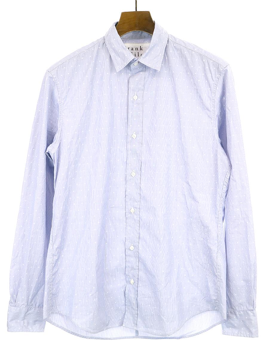 【中古】Frank&Eileen フランクアンドアイリーン PAUL 10YEAR HERITAGE COLLECTION 10周年限定 スタードットシャツ サックスブルー XS メンズ