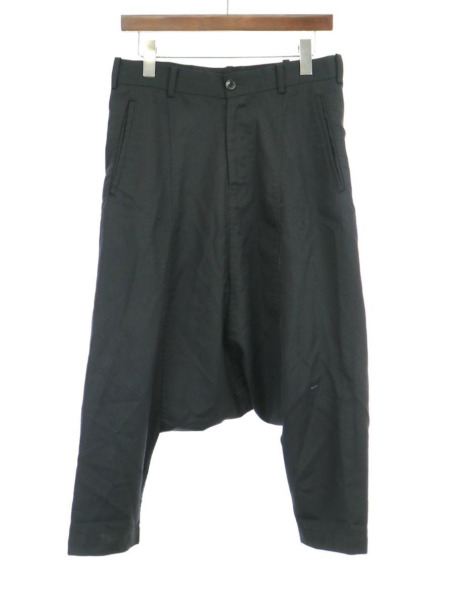 【中古】BLACK COMME des GARCONS ブラック コムデギャルソン 再構築ウールサルエルパンツ ブラック XS メンズ