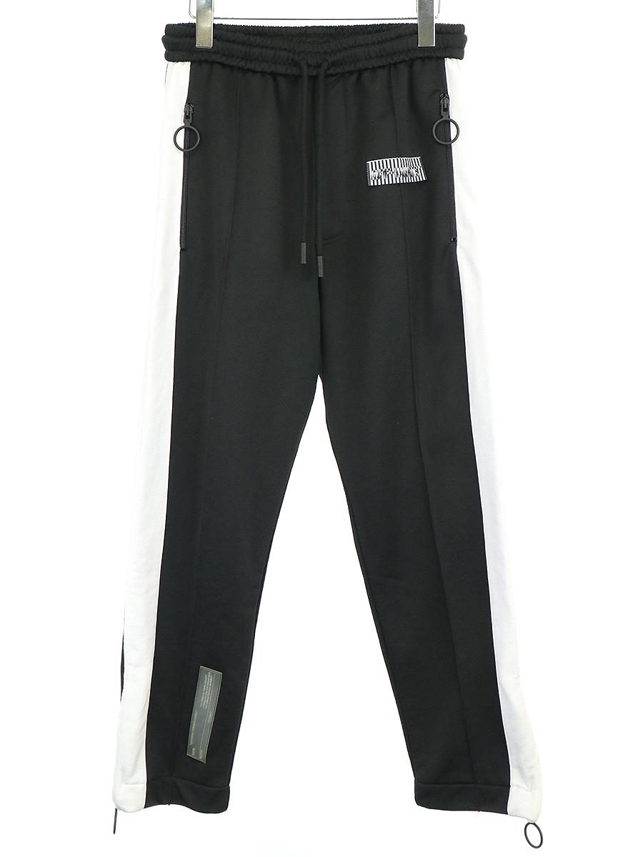 【中古】OFF-WHITE オフホワイト 18SS SLIM TRACK PANTS トラックパンツ ブラック S メンズ
