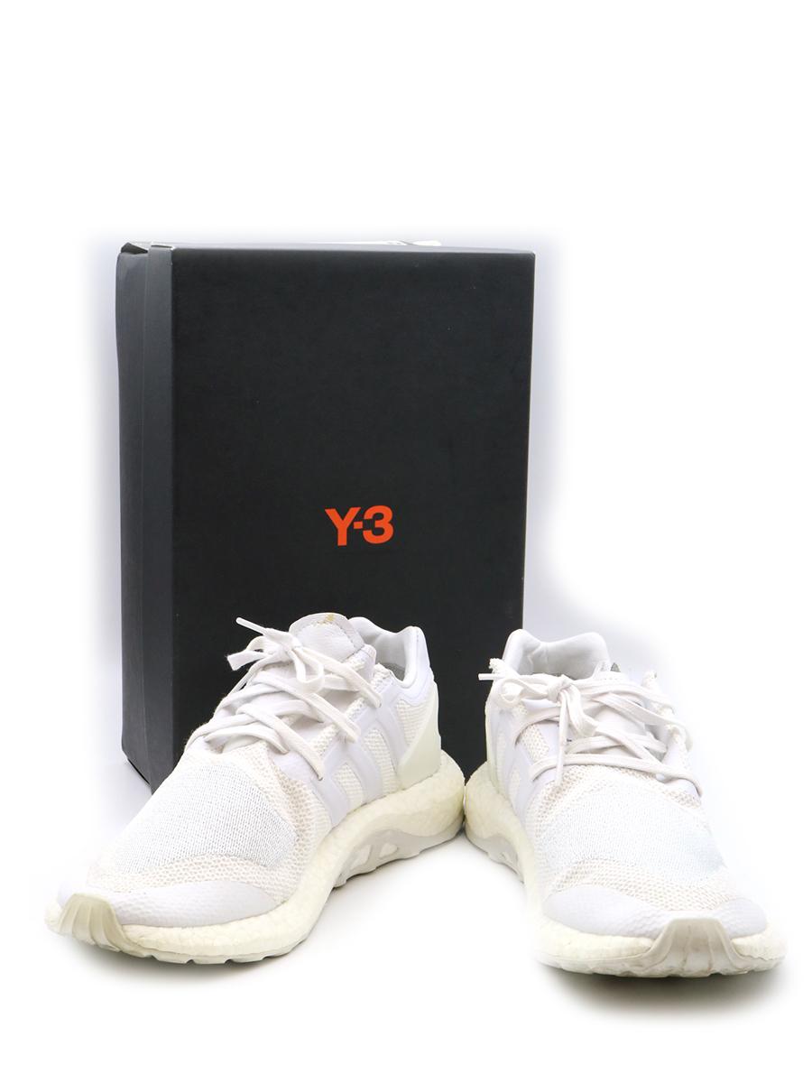 【中古】Y-3 ワイスリー PUREBOOST スニーカー ホワイト 27cm メンズ