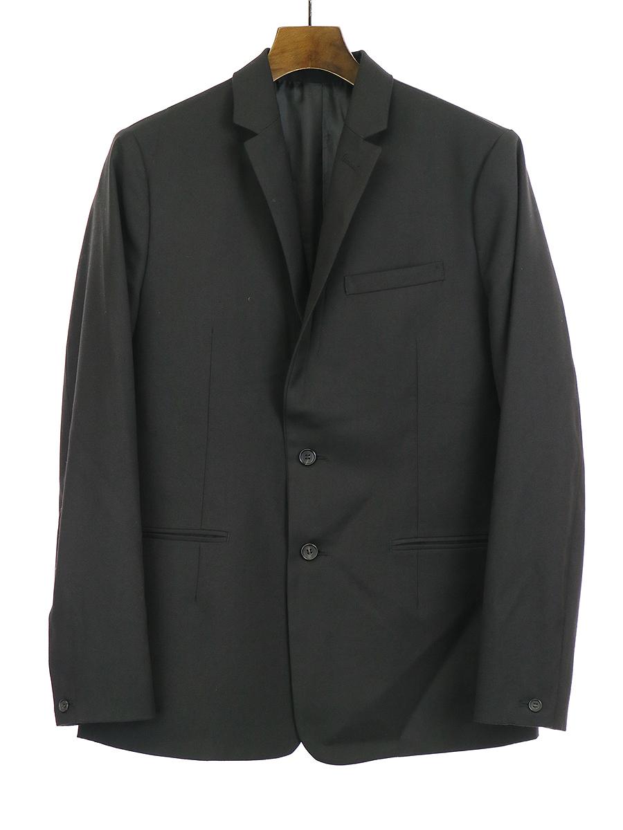 【中古】Lui's ルイス オリジナルファブリックウール混スリム2Bジャケット ブラック M メンズ