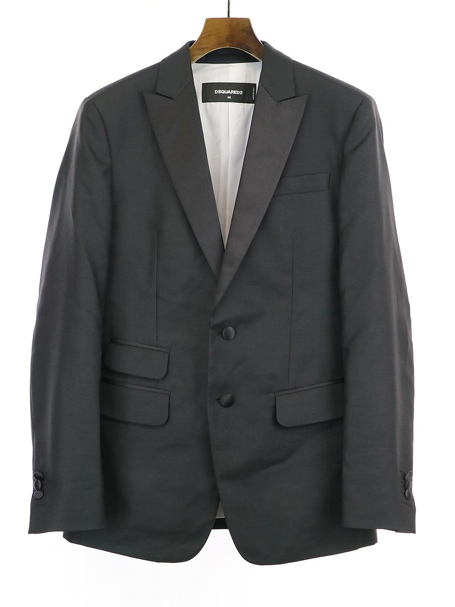 【中古】DSQUARED2 ディースクエアード 15AW タキシードジャケット ブラック 48 メンズ
