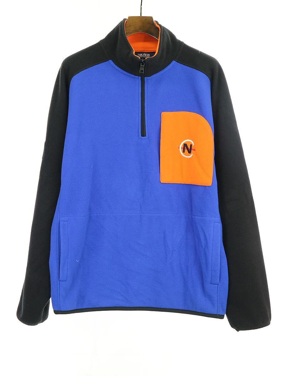 【中古】NAUTICA ノーティカ ×Urban Outfitters ハーフジップフリースプルオーバー ブルー M メンズ
