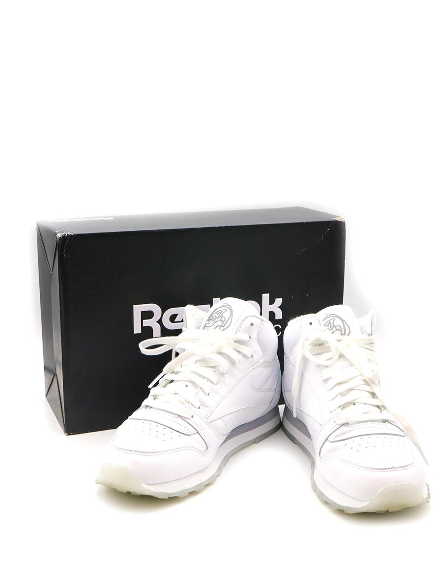 【中古】Reebok CLASSIC×PALACE SKATEBOARDS リーボック クラシック×パレス スケートボード 19AW JK LEATHER MID ローカットスニーカー ホワイト 27cm メンズ