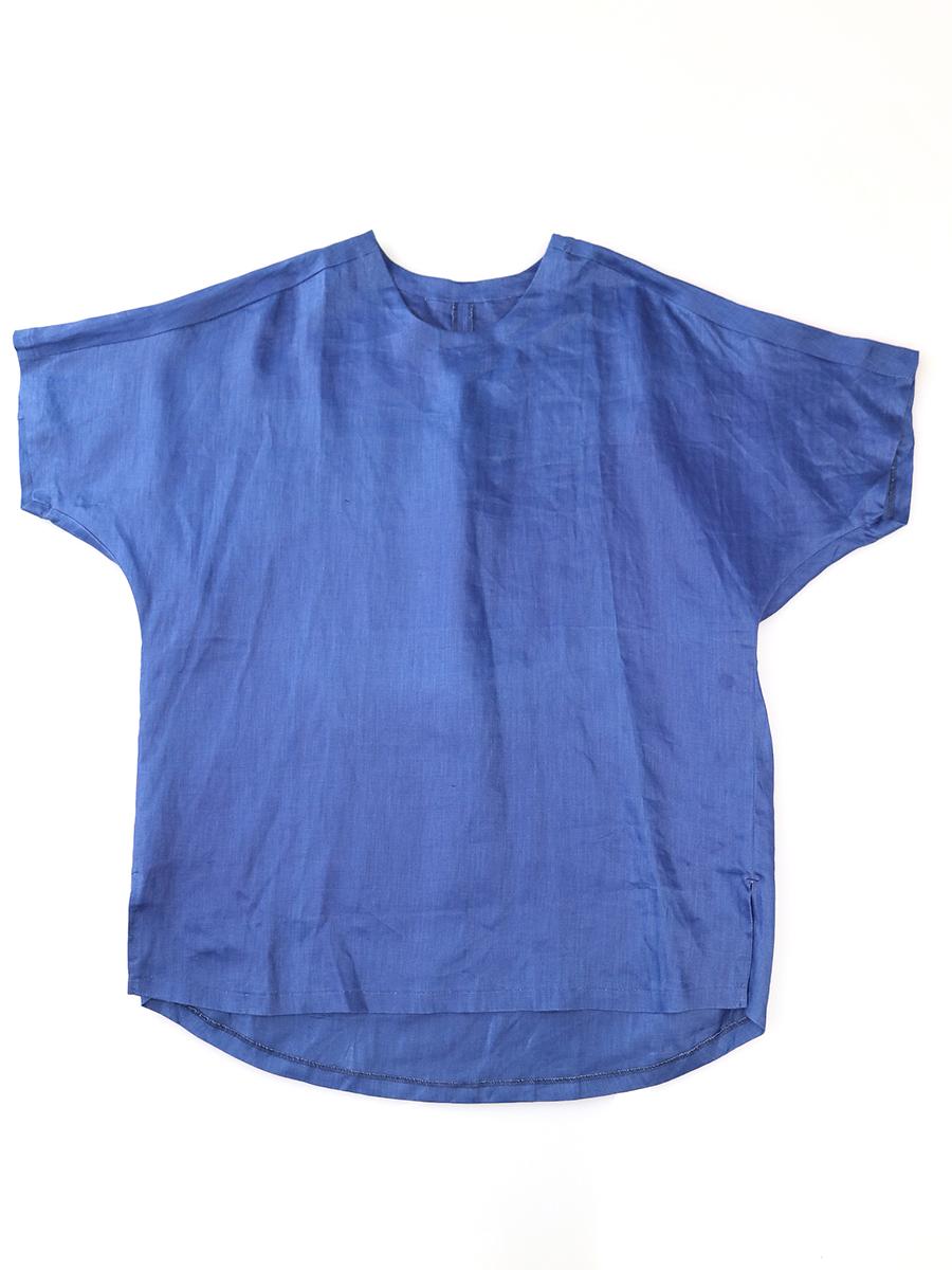 【中古】YANTOR ヤントル 16SS ドルマンスリーブリネンTシャツ ネイビー M メンズ