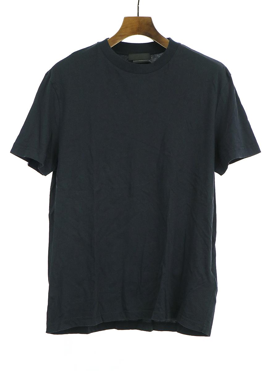 【中古】PRADA プラダ 三角タグ クルーネックTシャツ ブラック XL メンズ