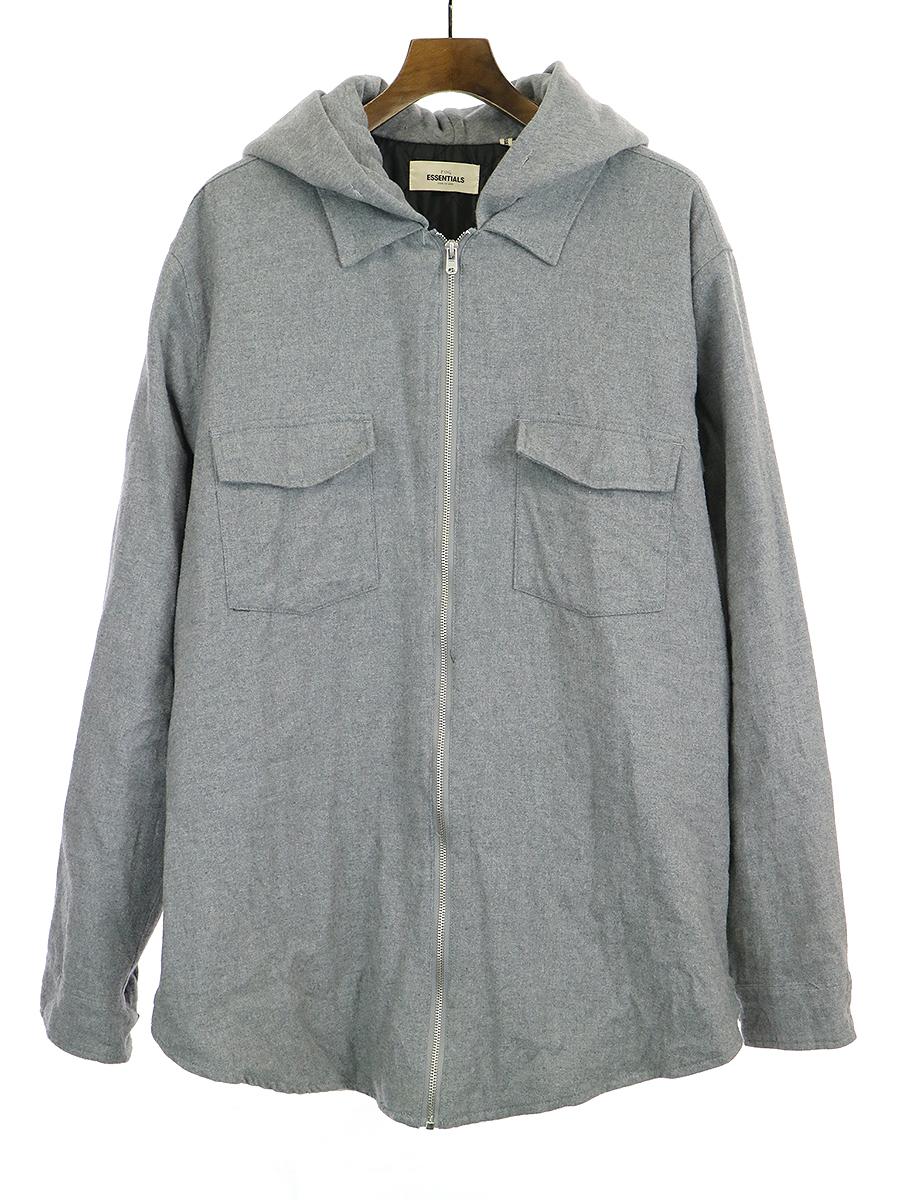 【中古】FOG by FEAR OF GOD フォグバイフィアーオブゴッド ESSENTIALS Hooded Zip Jacket フーデットジップジャケット グレー XL メンズ
