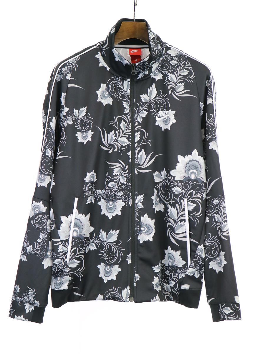 【中古】NIKE ナイキ Floral Tribute Jacket 花柄トラックジャケット ブラック L メンズ