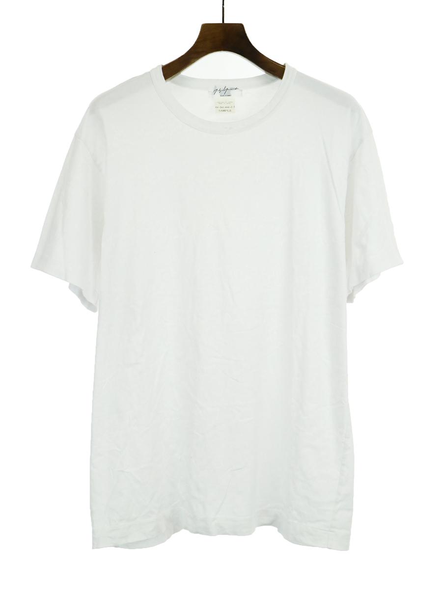 【中古】Yohji Yamamoto POUR HOMME ヨウジヤマモト プールオム SAMPLE 13SS ムラ染め加工Tシャツ ホワイト メンズ