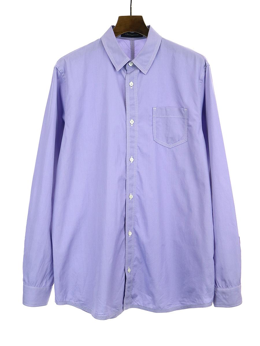 【中古】John UNDERCOVER ジョン アンダーカバー 18AW パッカリングシャツ パープル 3 メンズ