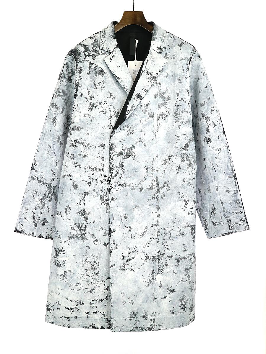 【中古】SHINYA KOZUKA シンヤコズカ 18AW ATELIER COAT ペイント加工コート ブラック M メンズ