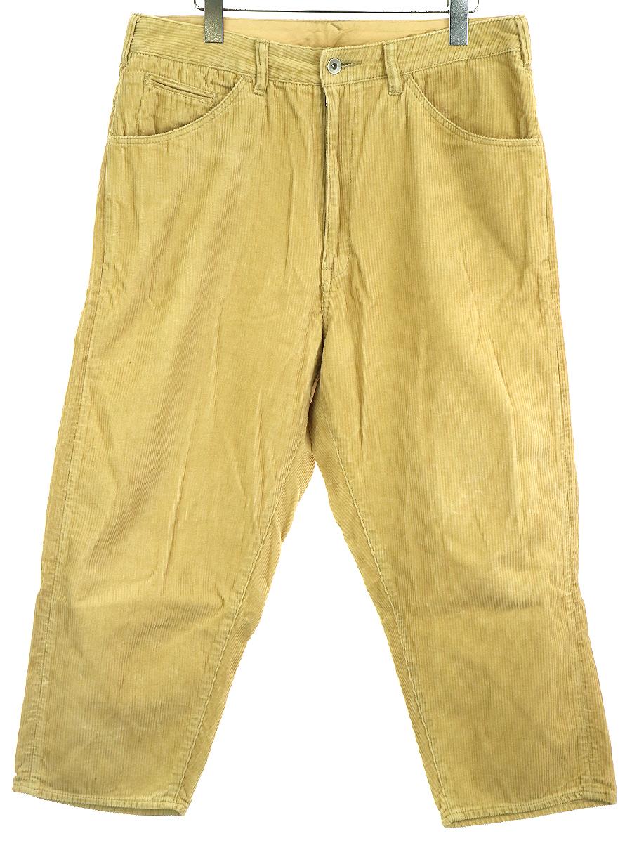 【中古】bukht ブフト BIG CORDUROY PANTS ビッグコーデュロイパンツ ベージュ 2 メンズ