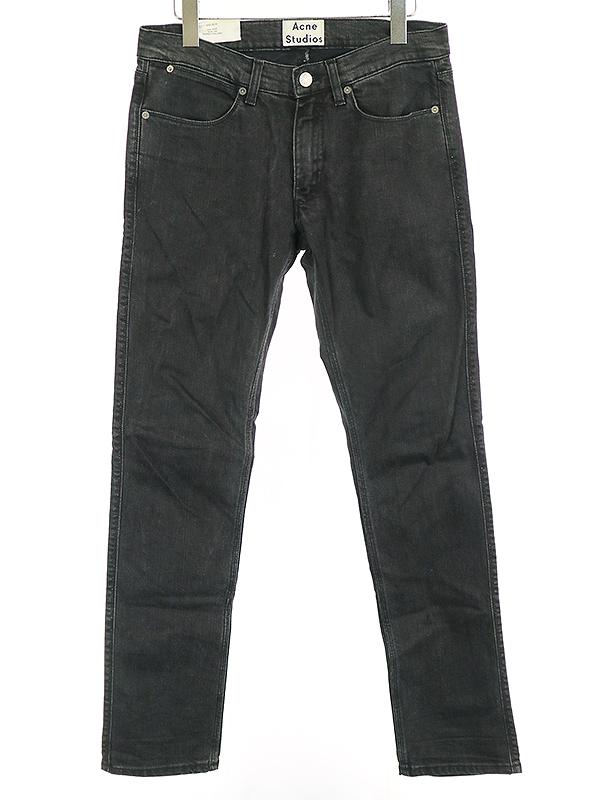 【中古】Acne Studios アクネストゥディオズ 16SS MAX スリムテーパードデニムパンツ ブラック 29 メンズ