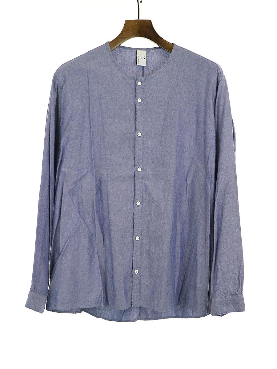【中古】NO CONTROL AIR ノーコントロールエアー コットンテンセルノーカラーシャツ ブルー 46 メンズ