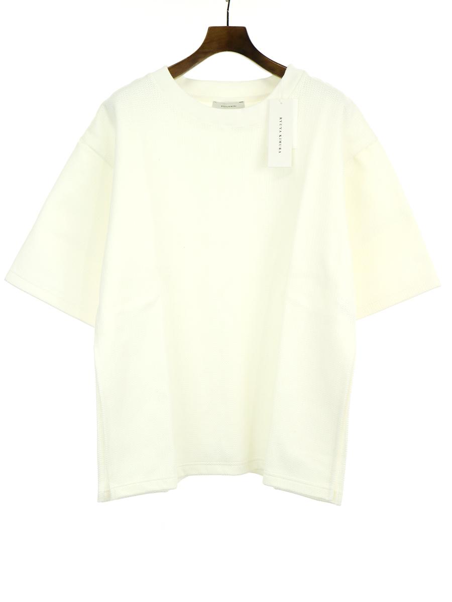【中古】RYUYA KIMURA リューヤ キムラ 19SS ハニカム編みオーバーロングスリットTシャツ ホワイト F メンズ
