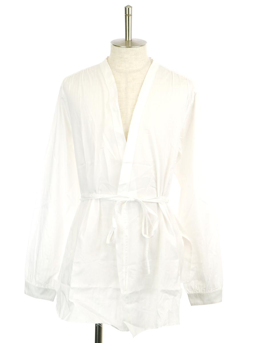 【中古】bukht ブフト MONK SHIRTS モンクシャツ ホワイト 0 メンズ