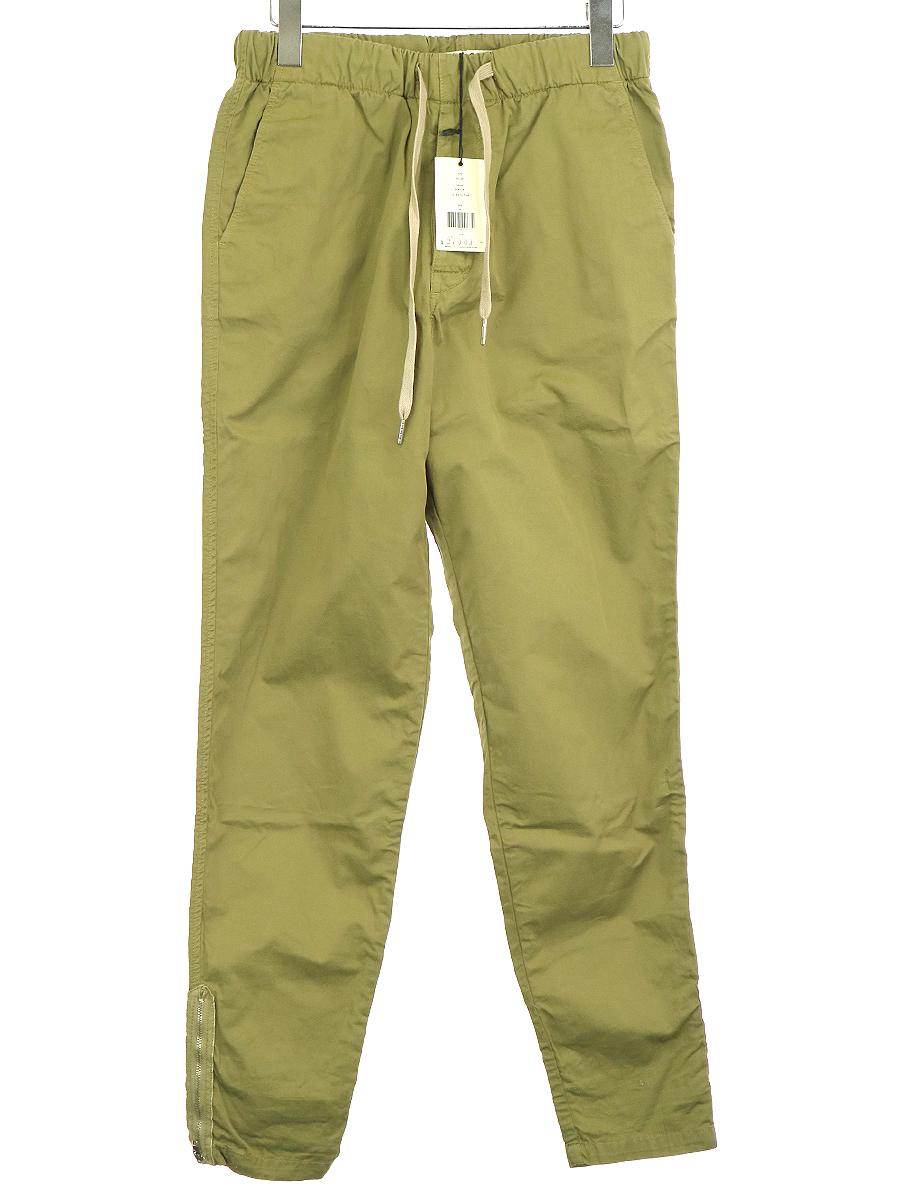 【中古】YMC ワイエムシー Trackie Bottom 裾ジップコットンイージーパンツ カーキ 28 メンズ