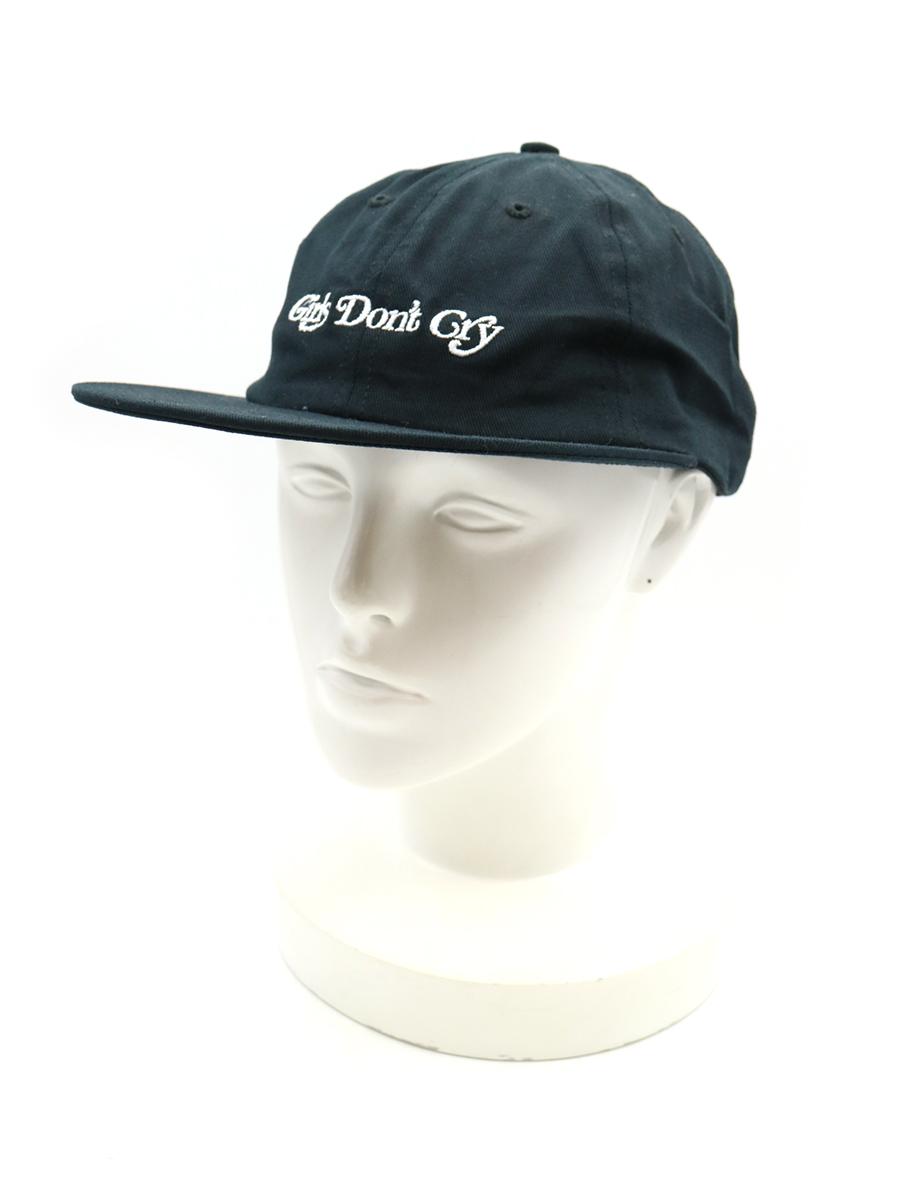 【中古】Girls Don't Cry ガールズドントクライ 19aw 6-Panel Cap ロゴキャップ ブラック メンズ