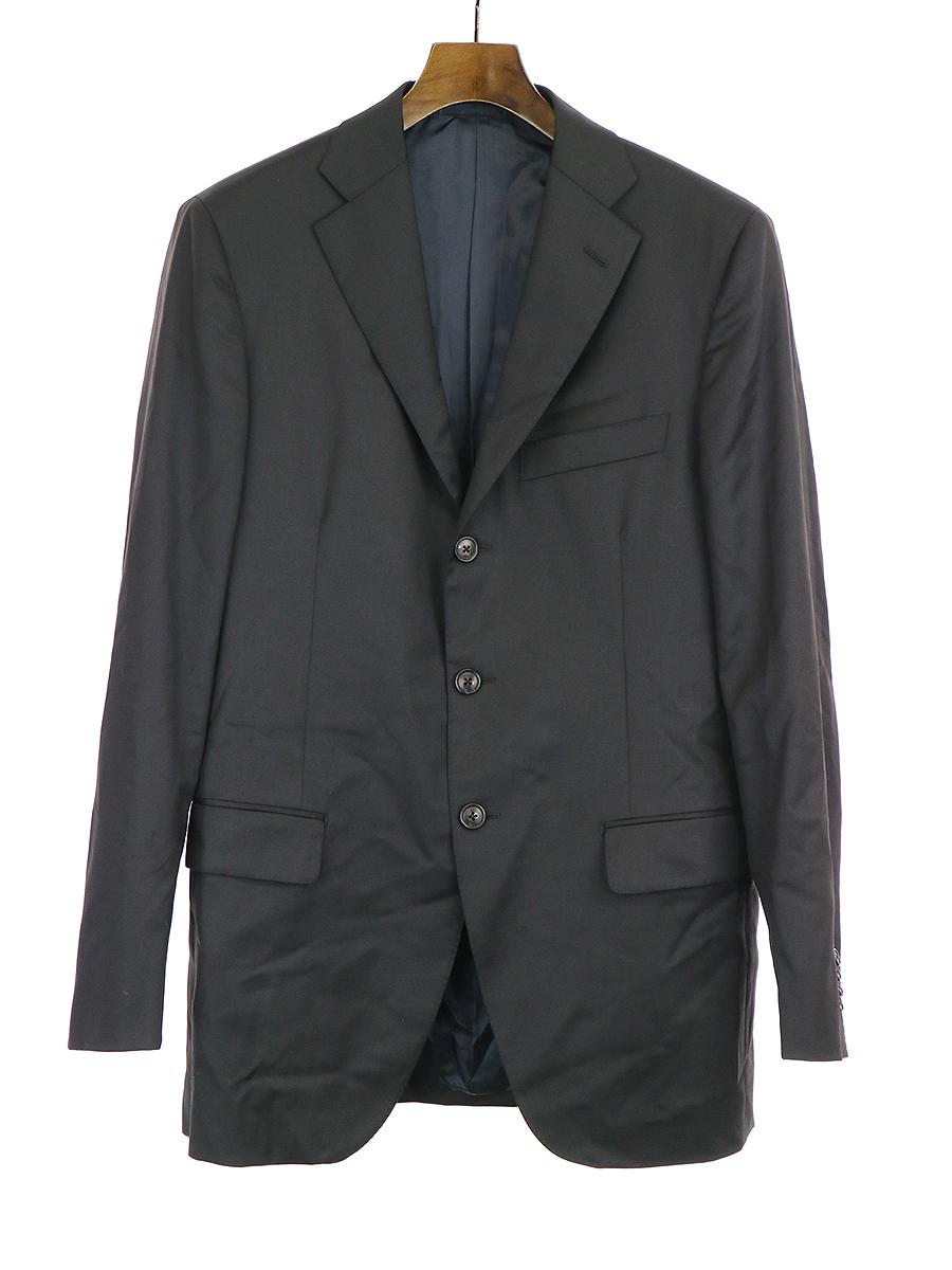 【中古】Belvest ベルベスト テーラードジャケット ブラック 50 メンズ
