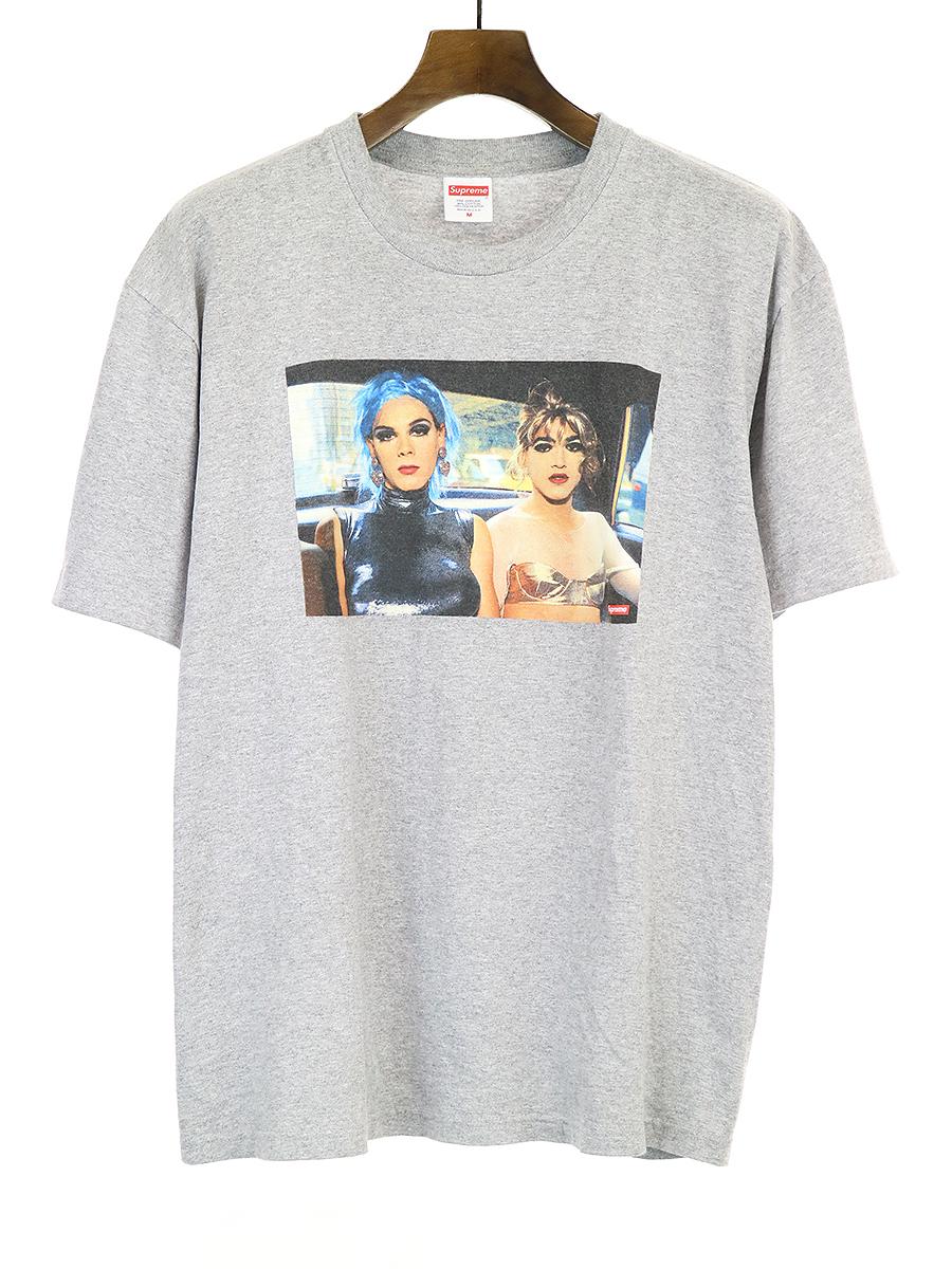 【中古】Supreme シュプリーム x Nan Goldin 18SS Misty and Jimmy Paulette Tee フォトプリントTシャツ グレー M メンズ