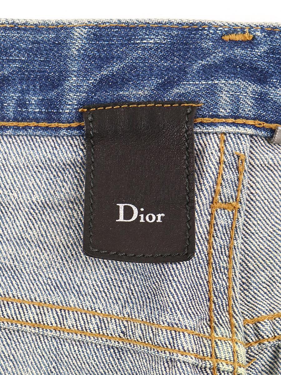 Dior HOMME ディオールオム 06AW 爪痕ダメージストレートデニムパンツ インディゴ 29 メンズsQdorCxBth