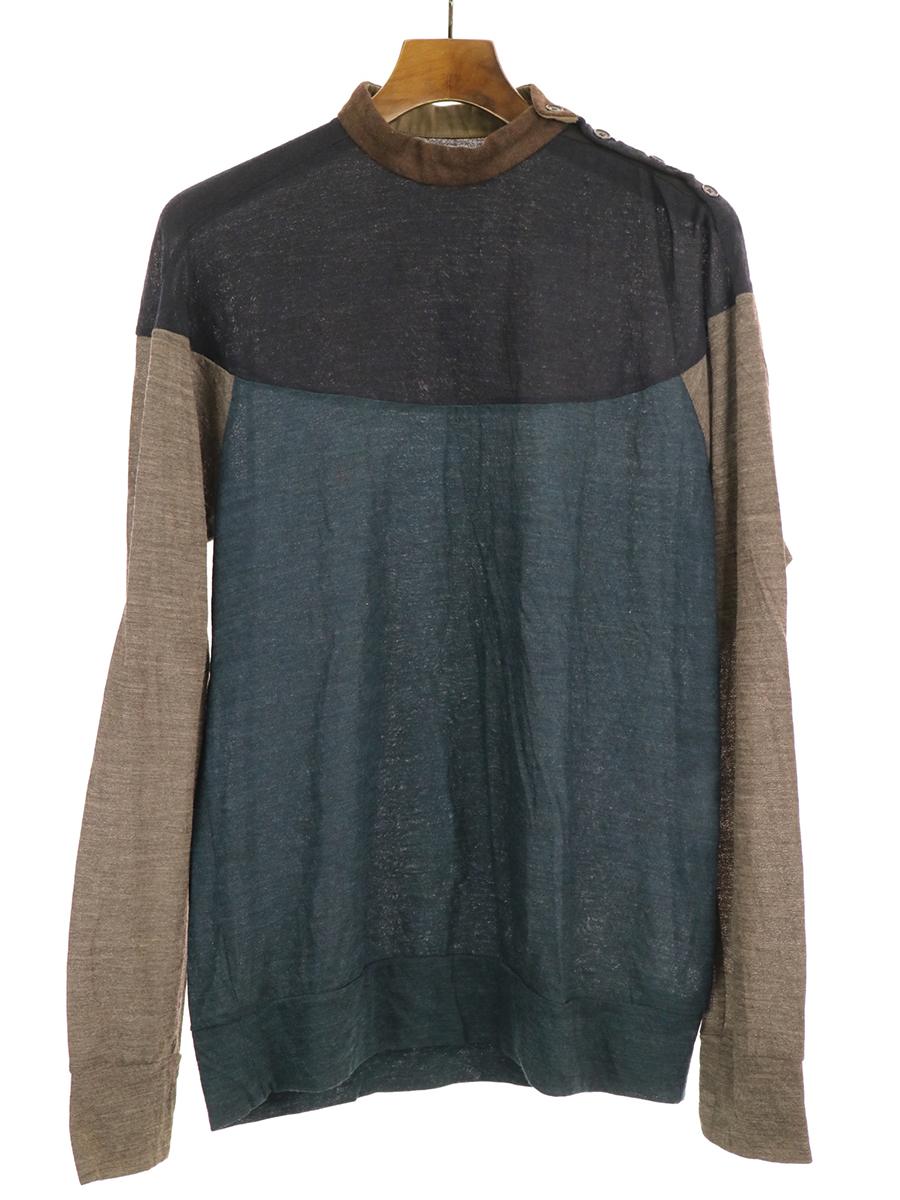【中古】kolor カラー 15AW ショルダーボタン切替ニットセーター マルチカラー 2 メンズ