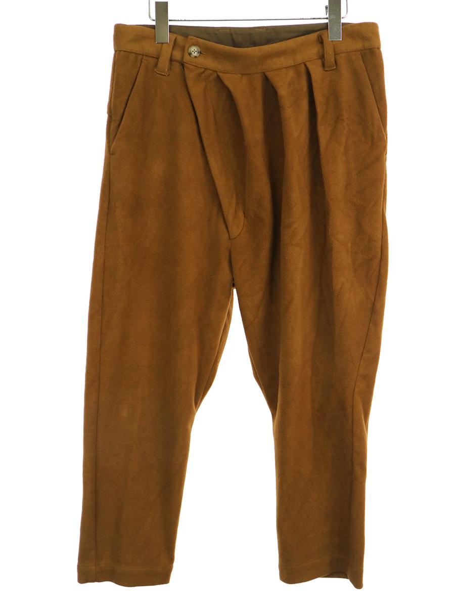 【中古】NO ID×CAMBIO ノーアイディー カンビオ Wool Jersey Sarouel Pants ウールジャージーサルエルパンツ ブラウン 2 メンズ