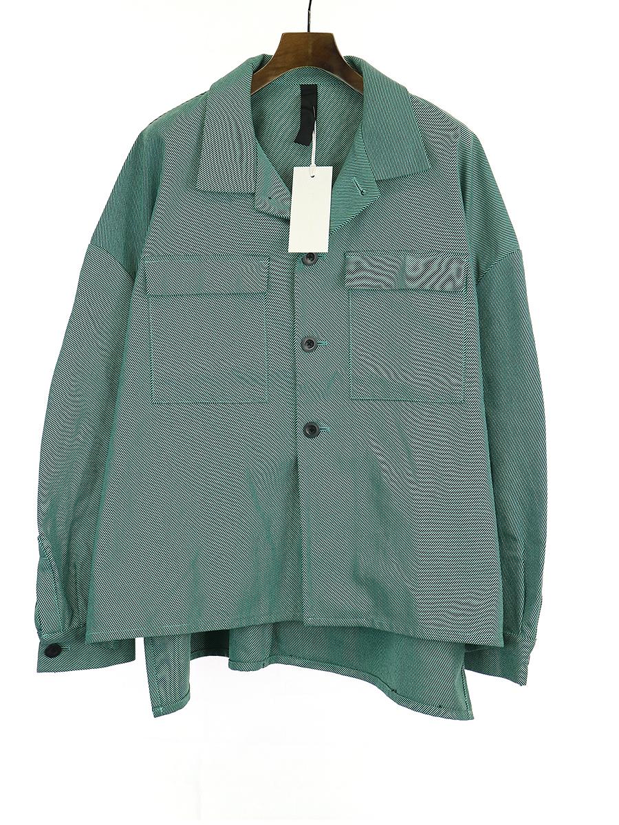 【中古】SHINYA KOZUKA シンヤコズカ WORK SHIRTISH JACKET オーバーサイズワークシャツジャケット グリーン M メンズ