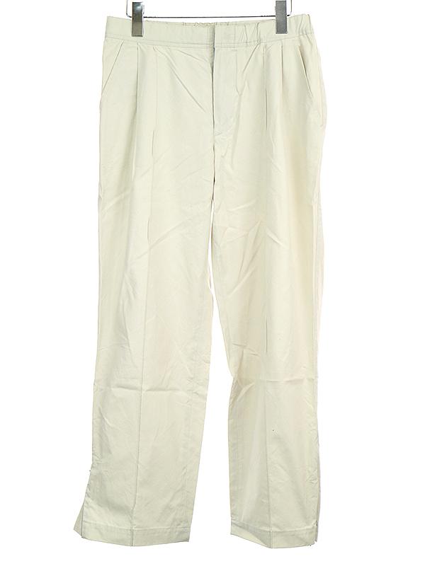 【中古】tone トーン 19SS CENTER PLEAT PANTS センタープリーツイージーコットンパンツ アイボリー S メンズ